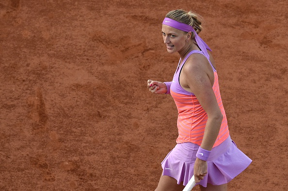 Kvitova will look to maintain a perfect winning record over Kovinic. Photo credit: Miguel Medina/Getty Images.