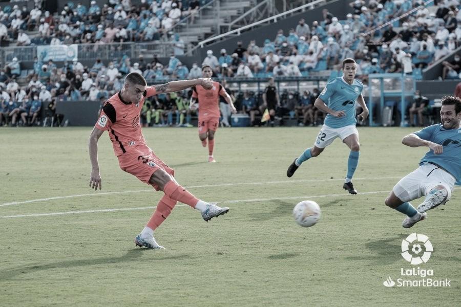Roberto marcando el gol del empate. / Foto: LaLiga.
