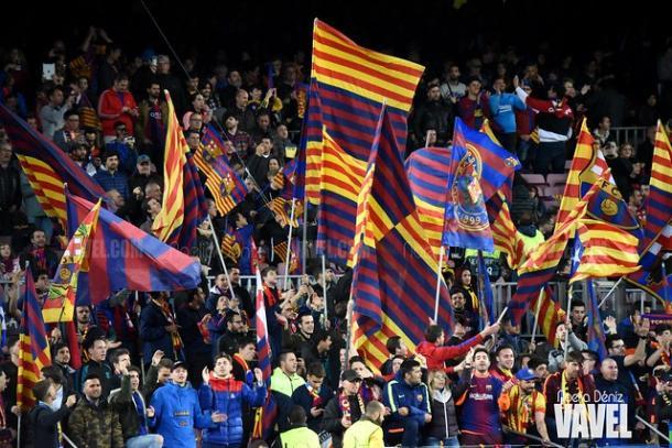 Aficionados del FC Barcelona. FOTO: Noelia Déniz