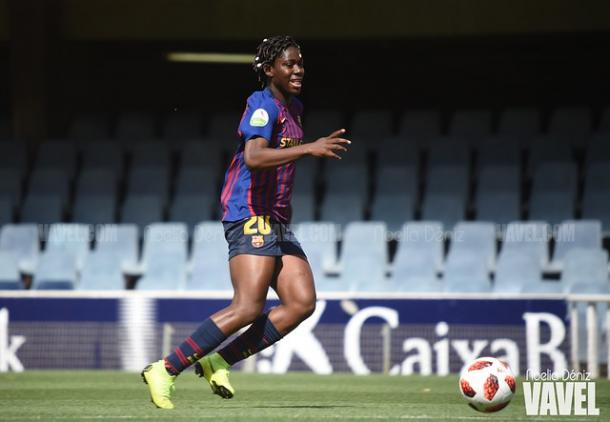 Oshoala, jugadora del FC Barcelona. FOTO: Noelia Déniz