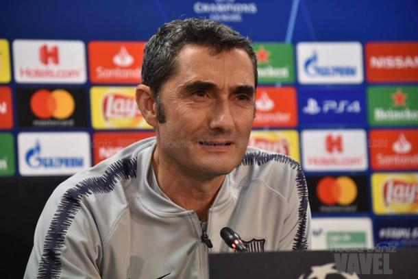 Valverde en la rueda de prensa previa al partido | Foto: Noelia Déniz (VAVEL.com)