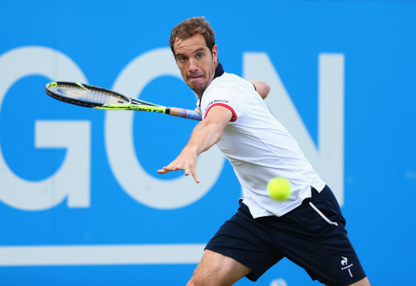 Richard Gasquet in action at the Queens Club