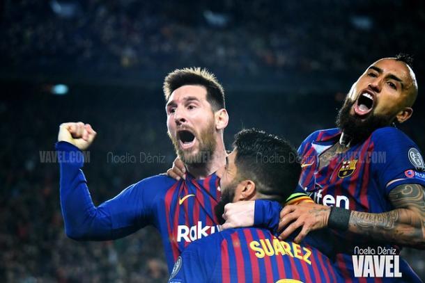 Messi y Suárez en la victoria del Barcelona ante el Liverpool (3-0) | Foto: Noelia Déniz (VAVEL)