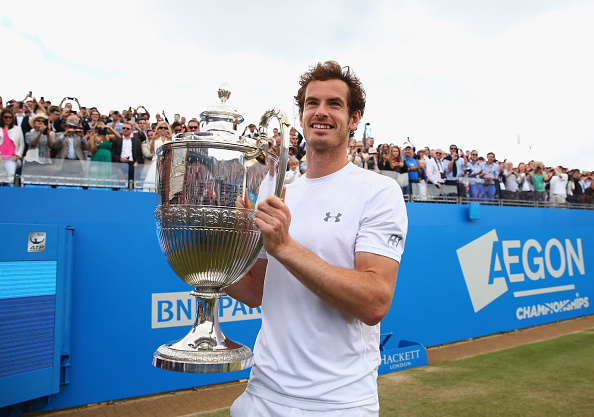 Andy Murray winning the Queens Club
