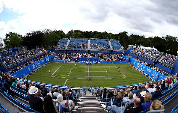 Panorama of Ann Jones Centre Court at the Edgbaston Priory Club. Photo credit: Jan Kruger/Getty Images.