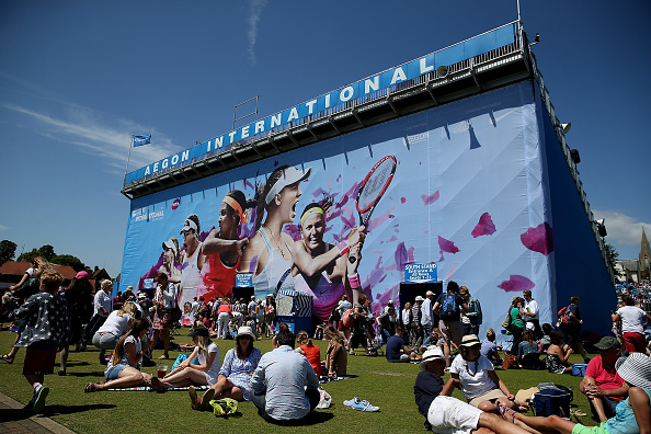 The grounds of Devonshire Park Lawn Tennis Club in last year's tournament. Photo credit: Ben Hoskins/Getty Images.