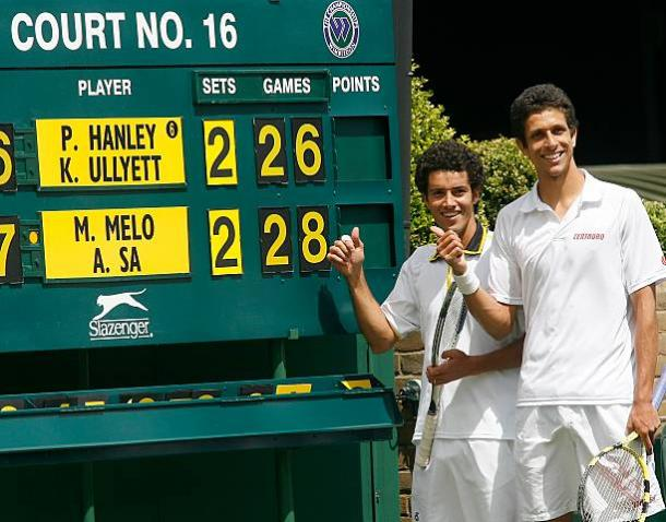Sá e Melo em Wimbledon 2007 (Foto: Getty Images)