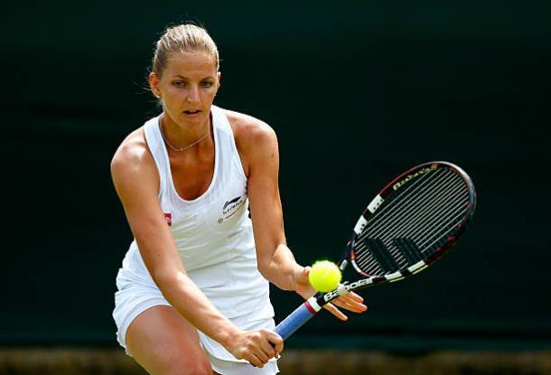 Karolina Pliskova in action during her first round win over Yanina Wickmayer last year (Getty/Julian Finney)