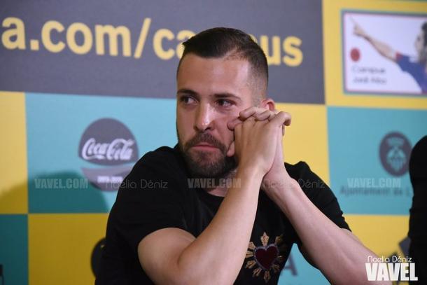 Jordi Alba emocionado. FOTO: Noelia Déniz