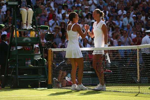 Jankovic beat Kvitova in a thrilling contest at Wimbledon two years ago (Getty/Clive Brunskill)