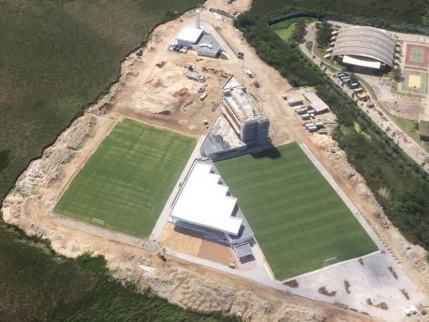 Imagem aérea do terreno em julho de 2016 (Foto: Reprodução/Pedro Antônio)