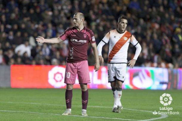 Trejo y Zozulya en el Rayo vs Albacete | Foto: LaLiga Smartbank