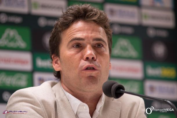 Rubi en su presentación   Fotografía: Ismael Viega (Onda Bética)