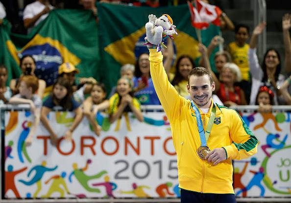 Zanetti celebra o ouro em Toronto/ Foto: Ezra Shaw/ Getty Images