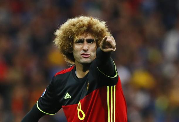 Fellaini played in Belgium's opening game of Euro 2016 (Photo: Getty Images)