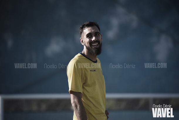 Borja Iglesias durante un entrenamiento con el Espanyol. Foto: Noelia Déniz, VAVEL