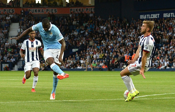 Yaya Toure scored twice at The Hawthorns back in August (photo:getty)