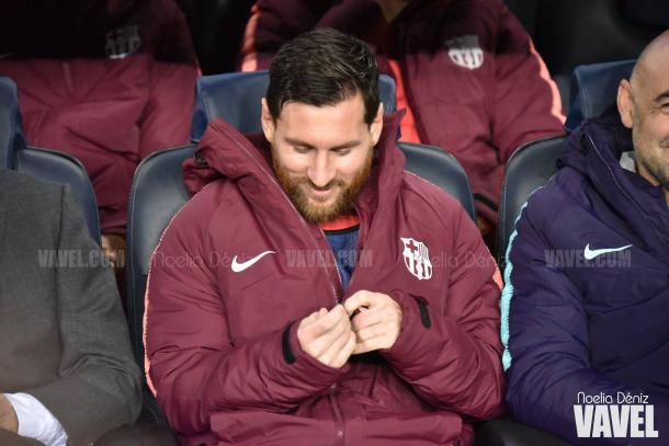 Messi arrancó el partido desde el banquillo | Foto: Noelia Déniz (VAVEL)