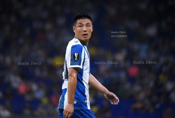 Wu Lei lució su nuevo dorsal, el 7, en el estreno liguero   Foto: Noelia Déniz - VAVEL