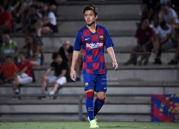 Hiroki Abe, futbolista del FC Barcelona B. FOTO: Noelia Déniz