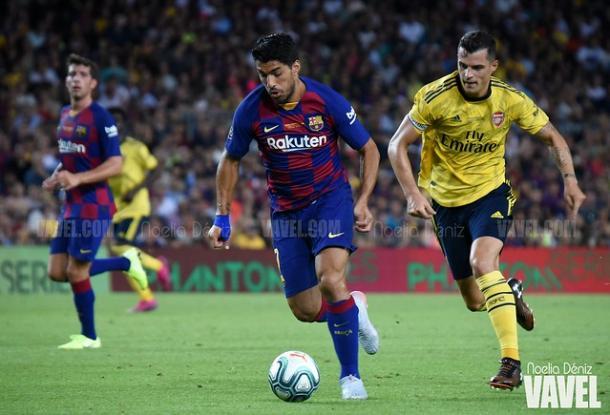 El Barça espera ver en Alemania la mejor versión de  jugadores como Luis Suárez. FOTO: Noelia Déniz