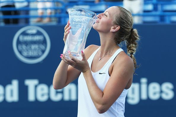 Kvitova defended her Connecticut Open title. Photo credit: Maddie Meyer/Getty Images.