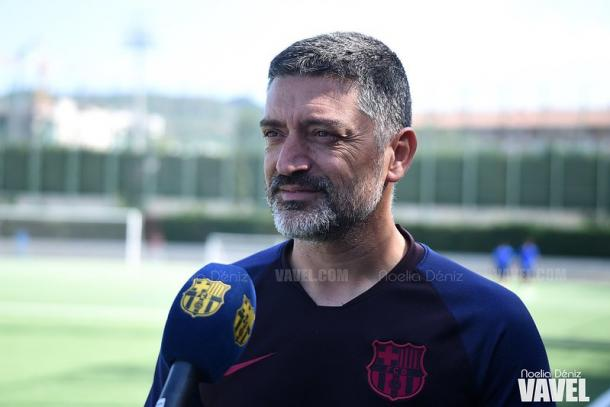 García Pimienta, entrenador del FC Barcelona B. FOTO: Noelia Déniz