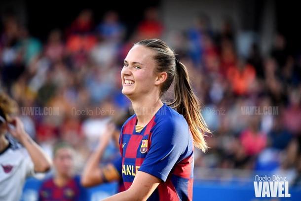 Caroline Graham es uno de los principales peligros en ataque del Barça | Foto: Noelia Déniz (VAVEL)