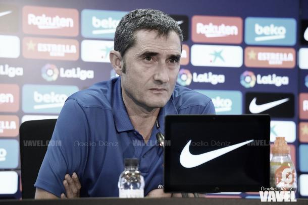 Ernesto Valverde en rueda de prensa. FOTO: Noelia Déniz