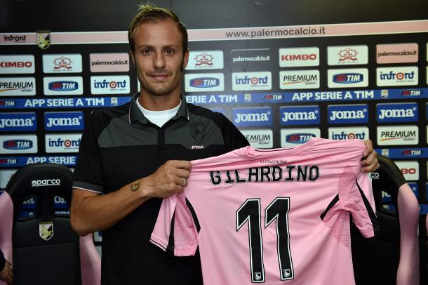 Gilardino signed this time last year and club president Maurizio Zamparini ultimately forced an unwilling Gilardino out this summer | Photo: gazzettaworld.com