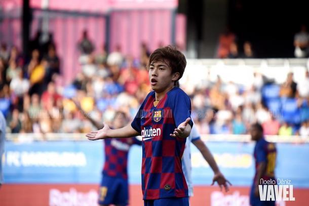 Hiroki Abe con los brazos levantados. FOTO: Noelia Déniz