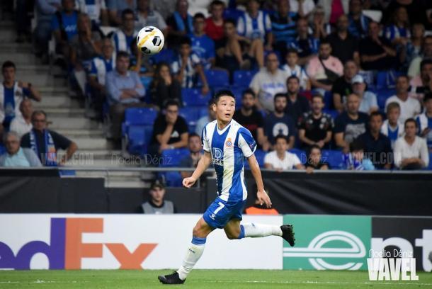 Wu Lei, jugador del RCD Espanyol. FOTO: Noelia Déniz
