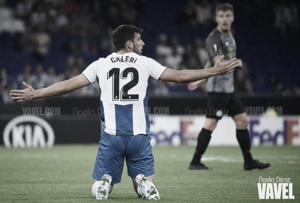 Calleri durante un partido en el RCDE Stadium. Foto: Noelia Déniz, VAVEL