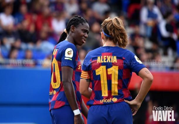 Oshoala y Alexia, puntales del equipo culé. FOTO: Noelia Déniz