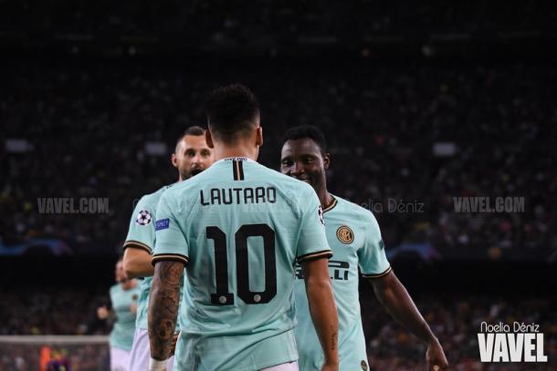Lautaro en el Camp Nou | Foto: Noelia Déniz (VAVEL)