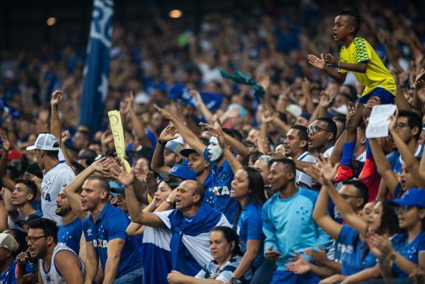 Torcida do Cruzeiro apoio até o final. Foto: Bruno Haddad/Cruzeiro