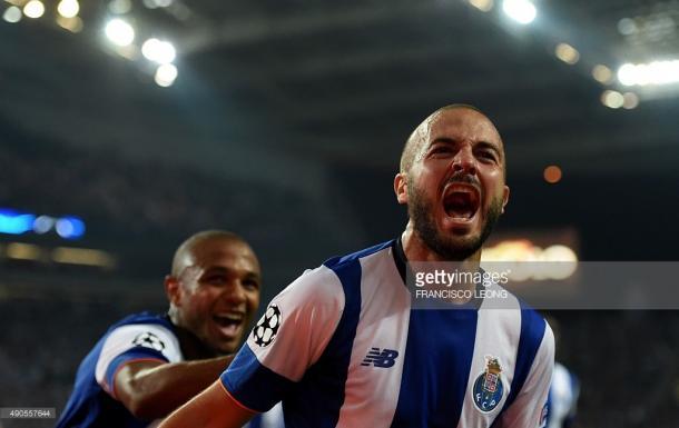 André André a festejar o golo frente ao Chelsea