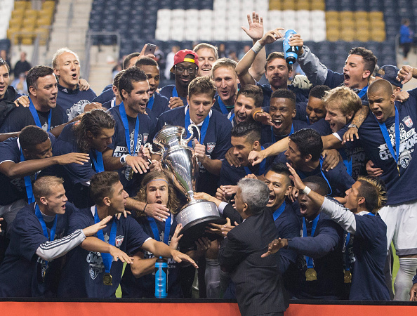 Sporting Kansas City celebrating their U.S. Open Cup win. Credit: Mitchell Leff / Getty Images