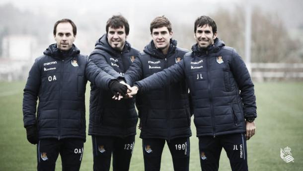 El nuevo cuerpo técnico de la Real Sociedad | Foto: Real Sociedad
