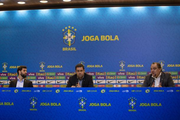 Comissão técnica da Seleção Olímpica | Foto: Thaís Magalhães/CBF