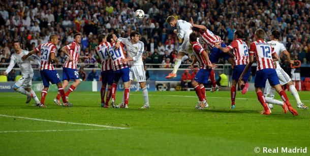 Gol de Roamos en Lisboa. Real Madrid