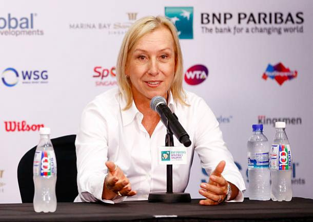 Martina Navratilova is an eight-time WTA Finals champion, also a tournament record. Photo credit: Julian Finney/Getty Images.
