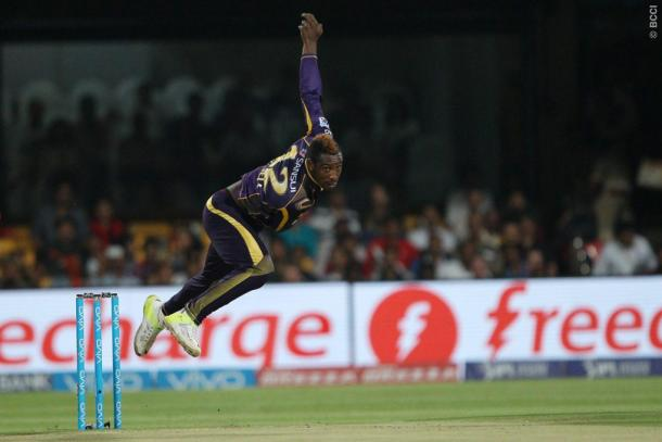 Andre Russell bowled a superb spell is his specatcular all-round performance | Photo: BCCI