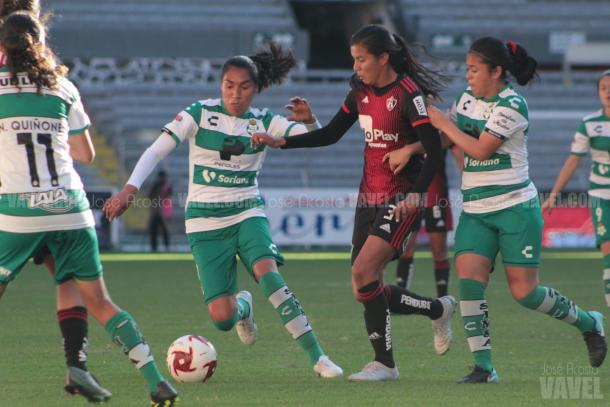 Fernanda Limón ha anotado para Atlas Femenil en todos los torneos desde su llegada en el Clausura 2019. / Foto: José Acosta - VAVEL