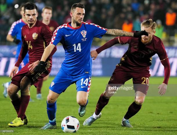 Brozovic en el duelo Rusia - Croacia en 2015 | Foto: Getty Images