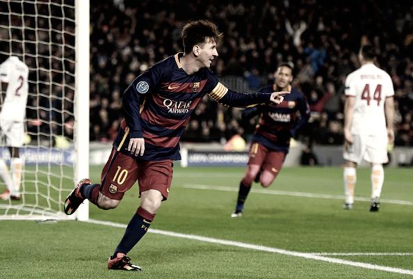 Leo Messi en el Barça-Roma de la fase de grupo de la Champions League 15/16 | Getty Images