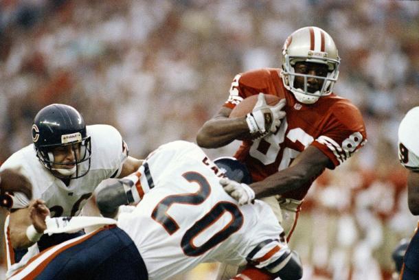 Jerry Rice en el campeonato de la NFC ante los Bears | Foto: 49ers.com