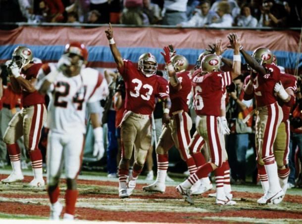 San Francisco celebra el touchdown de la victoria   Foto: 49ers.com