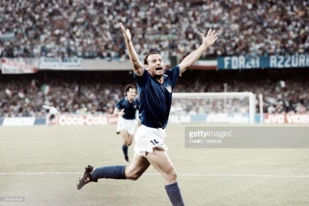 Schilacci celebrando un gol en el Mundial de 1990 | Foto: GettyImages