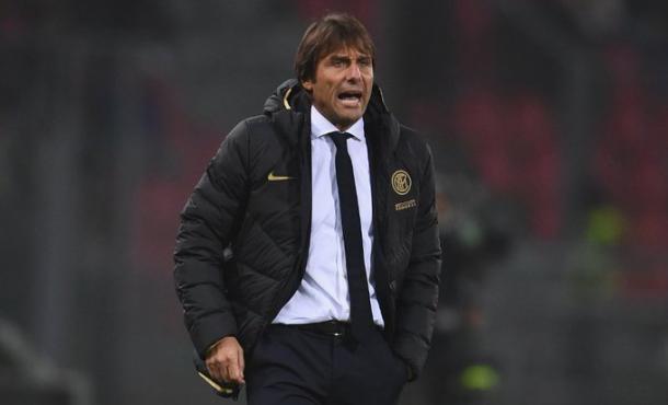 Conte no encontró variante ni mecanismos para resolver el paradigma que Sarri le planteó / Foto: Twitter oficial Inter